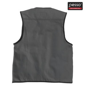 Vest with pockets DICP, black/grey 2XL, , Pesso