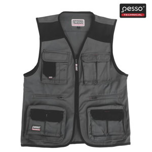 Vest taskutega DICP, hall/must, Pesso