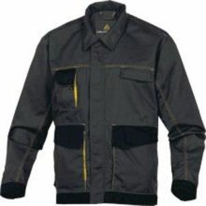 Darba jaka DMVES, pelēka/dzeltena, L izmērs, Delta Plus