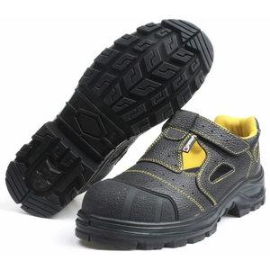 Safety sandals Dover S1, black 47, Pesso