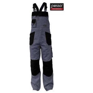 Bibpants  grey/black 48-50/176, Pesso