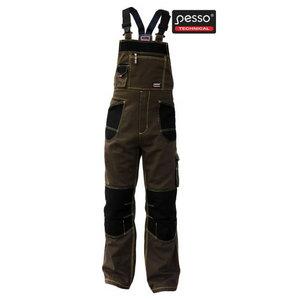 Workwear bibpants DPRD, dark brown/black, Pesso