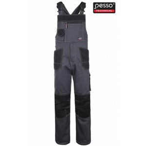 Bib-trousers  Stretch darkgrey 60-62/188, Pesso