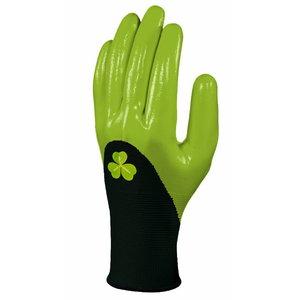 Gloves polyester, nitrile coating, red 7, Delta Plus