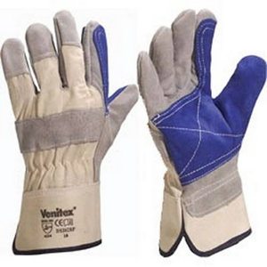 Gloves, TOP QUALITY COWHIDE GREY DOCKER GLOVE 10, Delta Plus