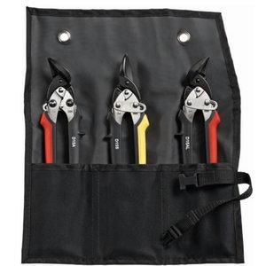 Shape&straight cutting snips-set in pouch (D15A+D15S+D15AL), Bessey
