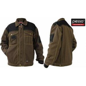 Jacket Workwear Jacket Canvas, dark brown/black L, Pesso