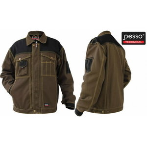 Darbinis  švarkas Workwear  Canvas, dark brown/black L, Pesso