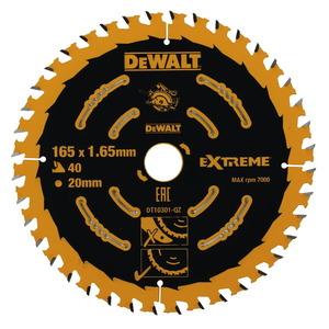 Saeketas 165x1,65x20mm, z40, 20°. Puit, MDF, DeWalt