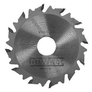 Saeketas 102x4/22mm, Z12, S40 ATB, DeWalt
