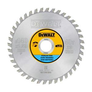 Saeketas 140x1,5x20mm, Z40, 10°. Metallile, DeWalt
