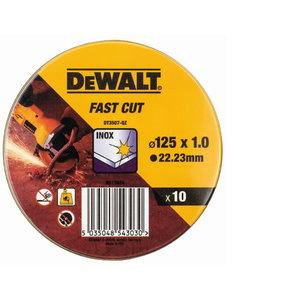 Griezējdisks 125x1,0mm DT3507 nerūs. tēraudam 10pcs, DeWalt