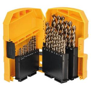Metallipuuride komplekt HSS-Co, 29 osa, 1-13 mm, DeWalt