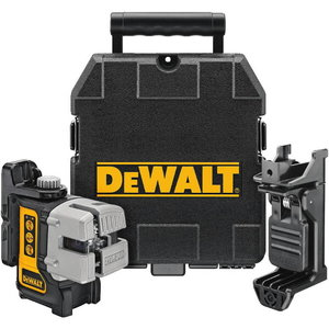 Cross line laser DW089K, 3 red lines, AA batteries, DeWalt