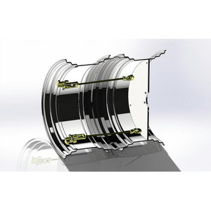 Double wheel rim 15x24 Quick Lock 3/280