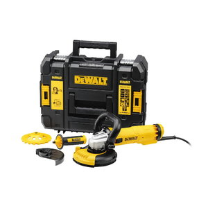 Angle grinder DWE4217KT + diamond disc + dust extract. cover, DeWalt