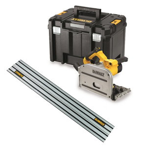 Plunge saw DWS520KTR, 1300W, 165mm + guide rail, DeWalt