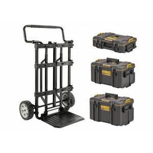 Mobiilne alus Toughsystem 2.0 kohvritele + 3 kohvrit, DeWalt