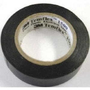 Izoliacinė juosta 15mm x 10m  Temflex 1500 juoda, 3M
