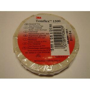 Izolācijas lente 19mm x 20m  Temflex 1500, balta, , 3M