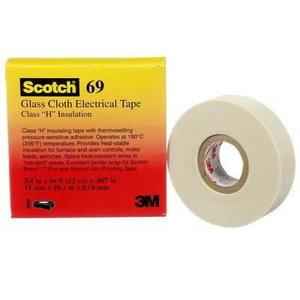Izolācijas lente 19mmx33m ET69 MC12,stikla šķiedra, balta 80 80000207433, 3M
