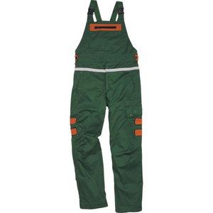Lumberjack dungarees ERABLE 3, CL 1, green/orange, Delta Plus