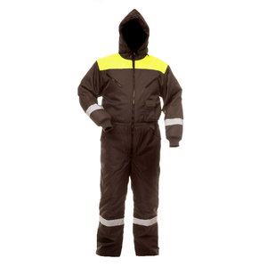 Winter overall with hood 8906, black/ yellow 4XL