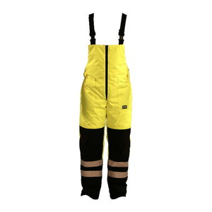 Hi vis. winter bib&brace trousers FB-8918-A, wellow/navy S