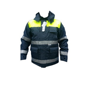 Žieminė striukė 8926, t.mėlyna / geltona XL