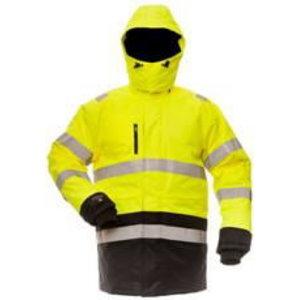 Žieminė striukė su  gobtuvu  B CANVAS 8958, geltona/juoda 3X 3XL