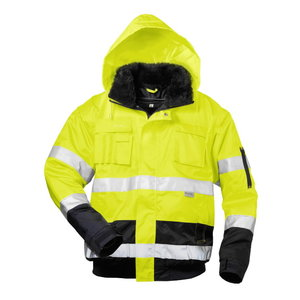 High visible winterjacket 2in1 with hood C466 navy/yellow L