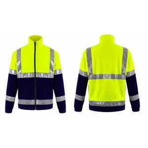 Hi. vis fleece FL01 yellow/navy 2XL
