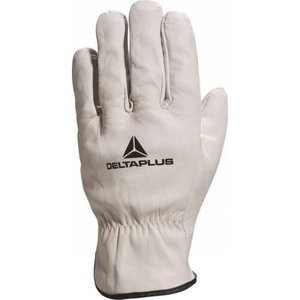 Gloves, grey cowhide leather 11, Delta Plus