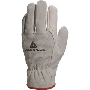 GREY COWHIDE GRAIN LEATHER PALM / SPLIT BACK GLOVE 10, Delta Plus