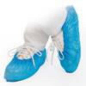Shoe covers, PE, blue