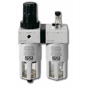 Фильтр-регулятор-смазка 1/2'' FRL-200, с манометром, GAV