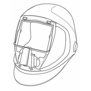 Maskas ārējā aizsargplate, sudraba, Speedglas 3M