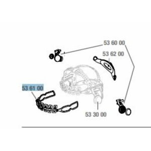Headband pivot mechanism front 9100, Speedglas 3M