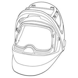 Speedglas 9100FX skydelis be galvos dirželio ir be filtro, Speedglas 3M