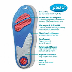 Insoles Gel Comfort 41-46, Pesso