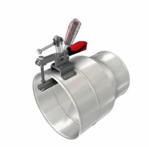 Large steel nozzle 250mm with grip for 200mm hoses