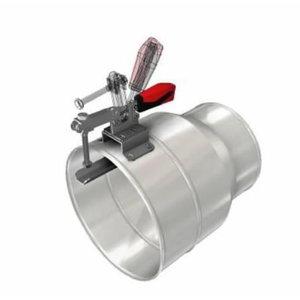 Suur 250mm metallotsik näpitsklambriga 200mm voolikule
