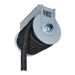 Spring driven hose reel 10m up to 200°C