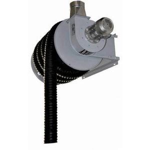 Išmetamųjų dujų nutraukimo ritė su ventiliatoriumi