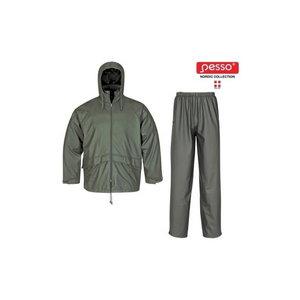 Lietus apģērba komplekts, zaļš 2XL, , Pesso