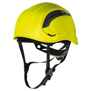 Safety helmet, Rotor adjustable, ventilated, yellow, Delta Plus