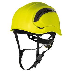 Safety helmet, Rotor adjustable, ventilated, yellow, Delta Plus