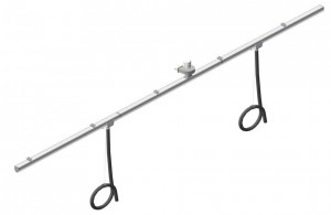 Exhaust extraction kit 20m rail with 2 sliding trolleys