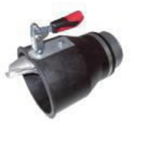 Rubber nozzle d=170 mm, manual gripper for 150mm hose