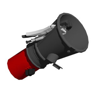 Rubber round nozzle with  fixing gripper & valve 100/160mm